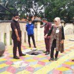 Komisi II DPRD Palopo saat melakukan peninjauan proyek pedestrian di Jalan Imam Bonjol, kecamatan Wara Utara,